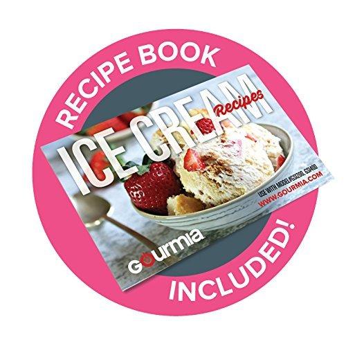 Gourmia GSI200EU Máquina automática para hacer helados de acero inoxidable 1,5 L - Helados, sorbetes y máquina de yogur congelado - Compresor incorporado y ...