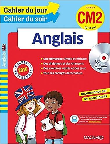 Amazon Fr Cahier Du Jour Cahier Du Soir Anglais Cm2 Nouveau