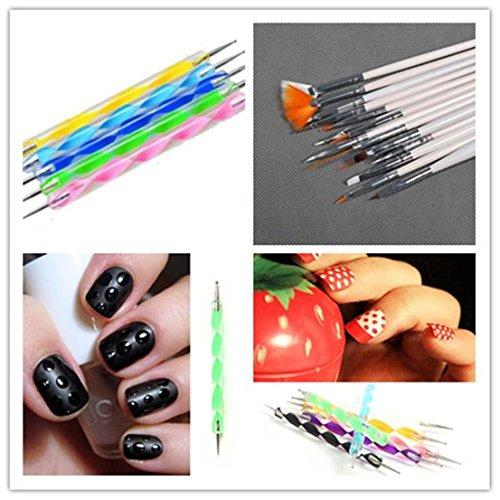 20pcs Pride Nail Art Pen Dotting Tools Set Drawing Brushes Suit - To Sunglasses Oval Suit Face
