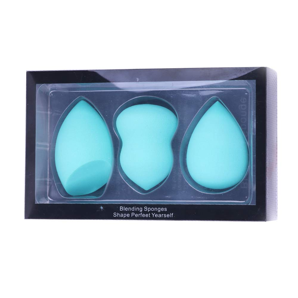 Makeup Sponge Multi Color Foundation Blending Flawless Makeup Blender Beauty Sponge Set for Liquid Creams and Powders 3 pcs