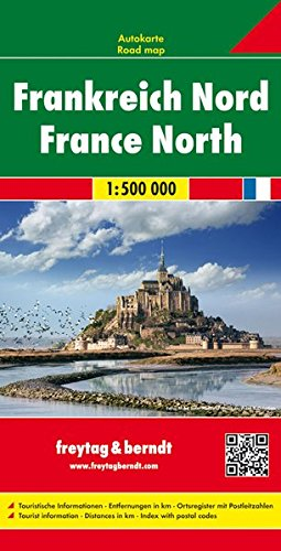 Frankreich Nord, Autokarte 1:500.000, freytag & berndt Auto+Freizeitkarten
