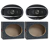 Package Pair of Pioneer TS-A6990F 6x9 5-Way Car Audio Coaxial Speakers 700w with (Optional) Speaker Boxes