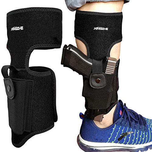 Ankle Holster For Concealed Carry Pistol Universal Leg Gun Holster for Glock 43 42 19 36 26, Smith & Wesson Bodyguard M&P Shield, Springfield XDs, Ruger LCP LC9 LCR, Sig Sauer P938 P238, Taurus