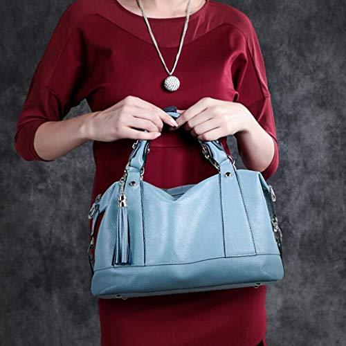 Del Bandolera Moda Size color H Regalo Para 13 Tamaño 7 Madre Azul La Pulgadas Red One 77 5 l De Fringe Día Mujer 87 Bolso 11 W Tote 5BIF8qwF
