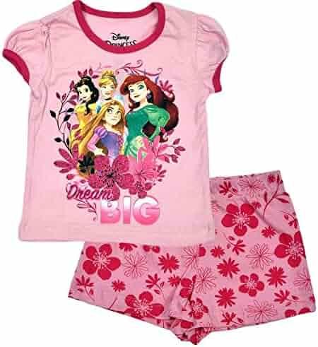 Disney Princess Little Girl s Toddler Dream Big Shorts Set dbd9a8e9b