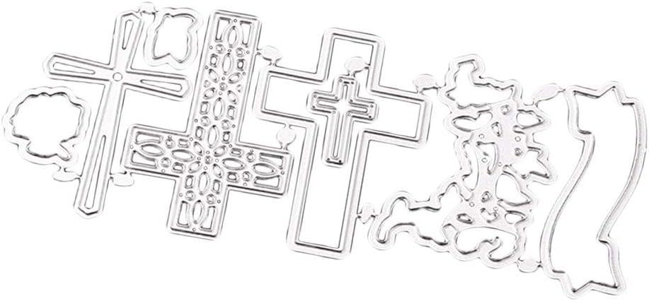 non-brand Croce Taglio Carbon Steel Fustellati in Religioso Card Making Artigianato Fai da Te Stencil