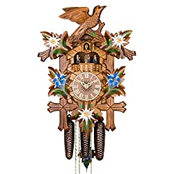 ISDD Adolf Herr Cuckoo Clock - Alpine Flowers Handpainted