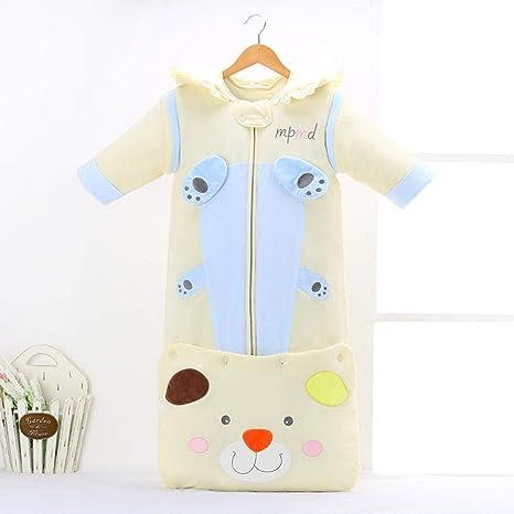 Saco de dormir de algodón para bebé recién nacido saco de dormir extendido saco de dormir edredón antipatadas 0-4 años-amarillo_120cm saco de dormir niños: Amazon.es: Bebé
