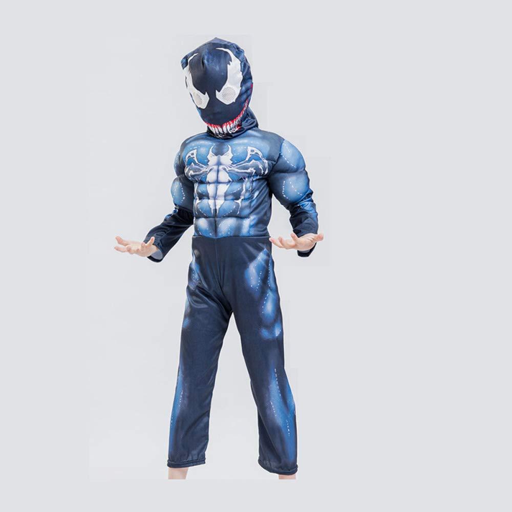 YIWANGO Niño Venom Traje Bola De Disfraces Halloween Impresión ...