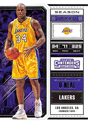 Basketball NBA 2018-19 Panini Contenders Draft Picks Season Ticket Variation #48 Shaquille O'Neal #48 NM+ Lakers