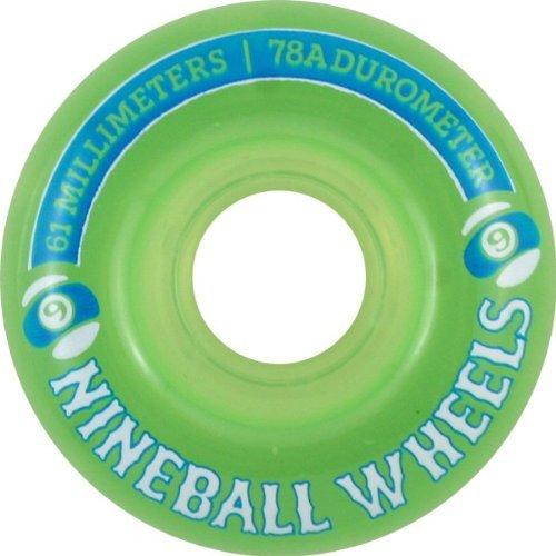 Sector 9 9 Ball 78a 61mm Clear Lime Skate Wheels