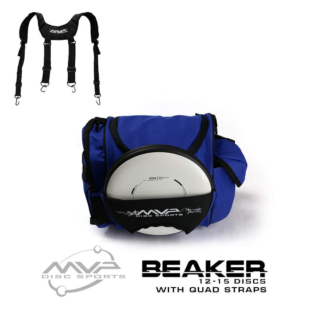 MVP Disc Sports MVP Beaker Competition Disc Golf Bag + Quad Straps - Royal