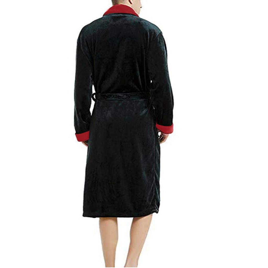 Elegante Vestaglia per Gli Uomini S-XXXXXL Luoluoluo Pigiama Invernale Donna Accappatoio Uomo /& Donna in Morbido Pile con Cintura