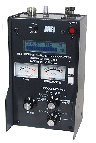MFJ Enterprises Original MFJ-269CPRO .53-230 / 430 ~ 520 MHz Antenna / SWR / RF Analyzer w/ LCD, Counter & Meters.