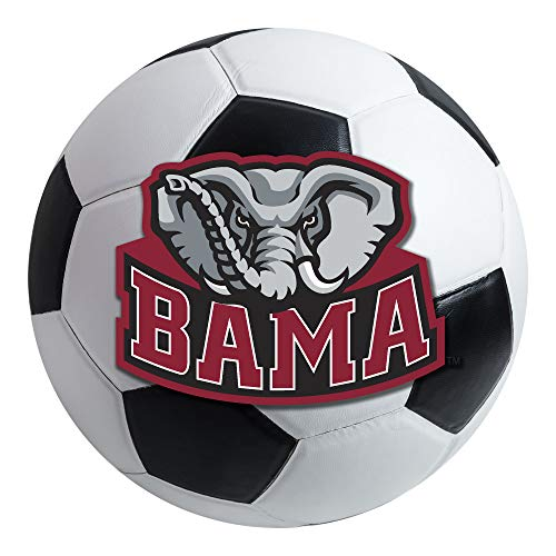 FANMATS NCAA University of Alabama Crimson Tide Nylon Face Soccer Ball Rug