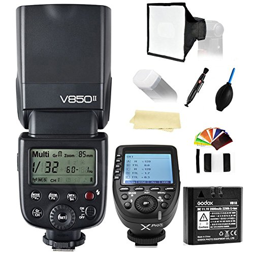 Godox Ving V850II GN60 2.4G 1/8000s HSS Camera Flash Speedlight+Godox XPro-S Wireless Flash Trigger Transmitter compatible for Sony Cameras+2000mAh Li-ion Battery