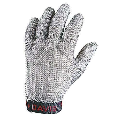 Glove Mesh Metal (Honeywell Whiting + Davis 5-Finger Metal Mesh Cut-Resistant Gloves, Large (RWS-57005))