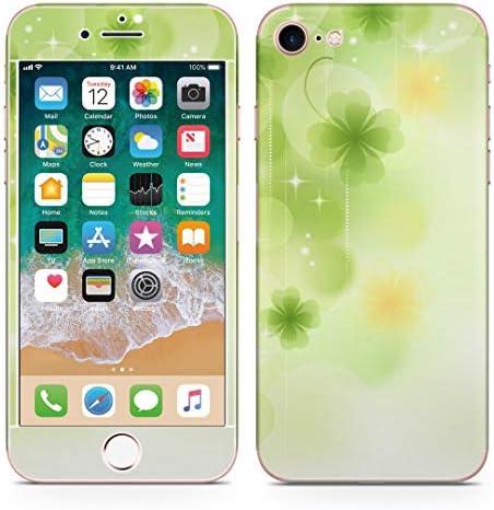 igsticker iPhone SE 2020 iPhone8 iPhone7 専用 スキンシール 全面スキンシール フル 背面 側面 正面 液晶 ステッカー 保護シール 000991 フラワー クローバー キラキラ