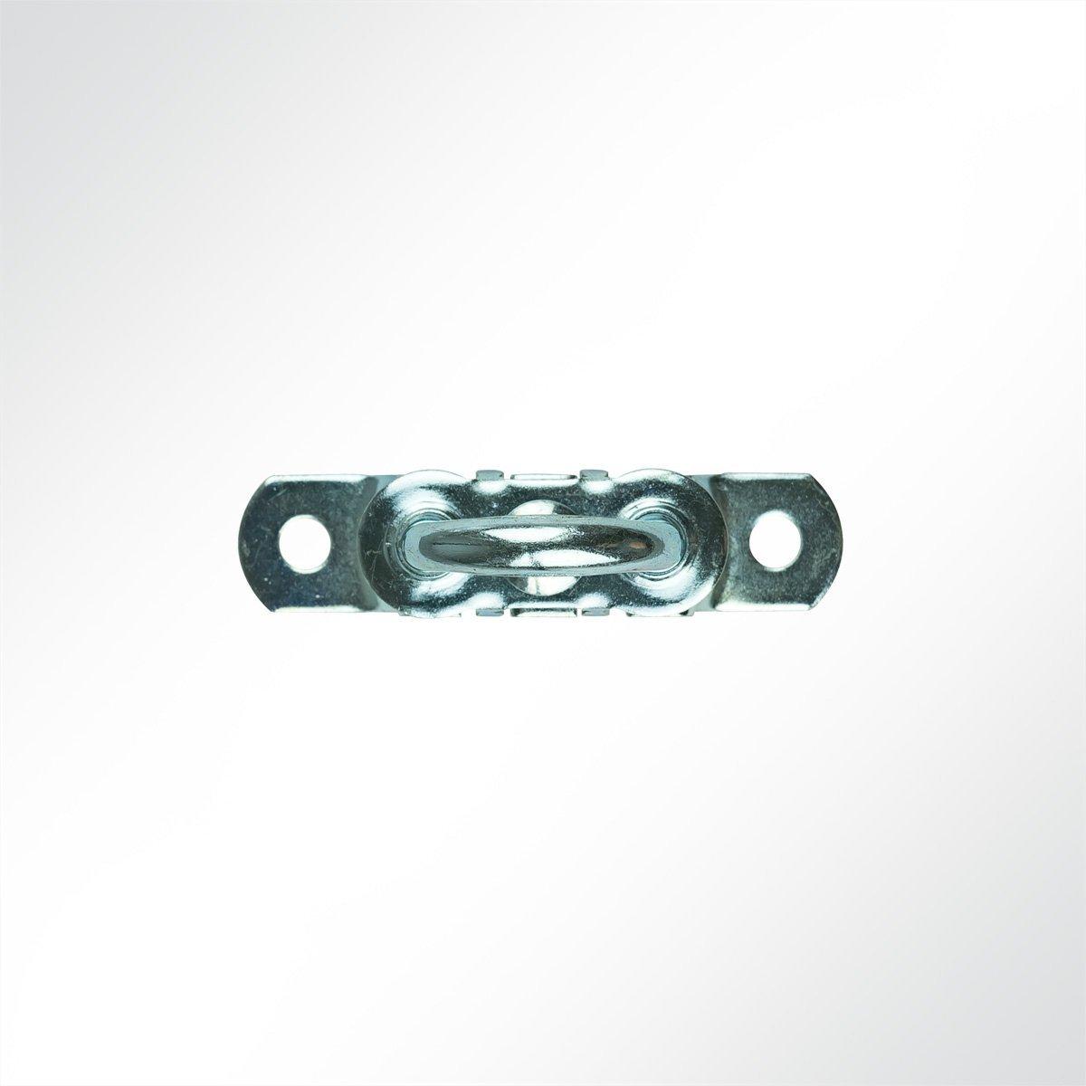 15x20x66mm in grau 1 St/ück BxHxL LYSEL Gro/ßer Drehverschluss TIR verzinkt,