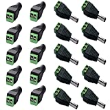 GogoForward 10 pcs Speaker Wire cable to female & male RCA Connector Adapter Jack Plug LED