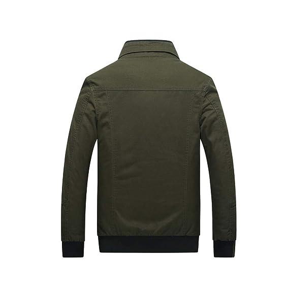 Amazon.com: HUAN Mens Vintage/Military Jacket - Stand ...