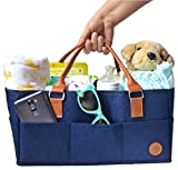Cheap Cribs with Attached Changing Table NEW Baby Diaper Caddy by Hibiscus & Co. | Nursery Organizer | Large Portable Car Travel Tote Bag | Storage Bin for Diaper Changing Table| Newborn Essentials | Girl Boy Baby Shower Registry Gift Basket