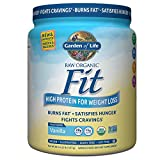 Garden of Life Organic Meal Replacement - Raw Organic Fit Vegan Nutritional Shake for Weight Loss, Vanilla, 16.1oz (457g) Powder