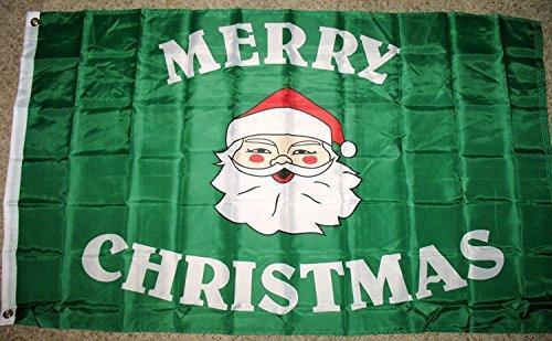 Merry Christmas Santa Claus Flag 3'x5' Decorative Banner