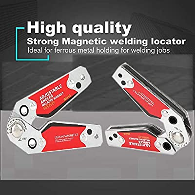 Welder Tool Accessories Wide Adsorption Surface Strong Magnetic Magnetic Welding Holder,Adjustable Welding Magnet Holder 20/°-200/°Welding Positioner
