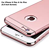 Aeetz® iPhone 6 Plus back covers, iPhone 6s Plus Case, Ultra-thin 3in1 Electroplate Metal Texture Hard Plastic Back Case Cover for Apple iPhone 6 Plus & 6s Plus [5.5 inch] (Rose Gold with Rose Gold)