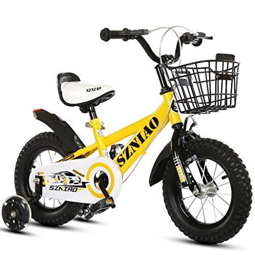 Xiaoping Bicyclettes pour enfants, Bicyclettes pour enfants 3-6 ans, Tricycles pour enfants, 16 pouces (Color : Yellow)
