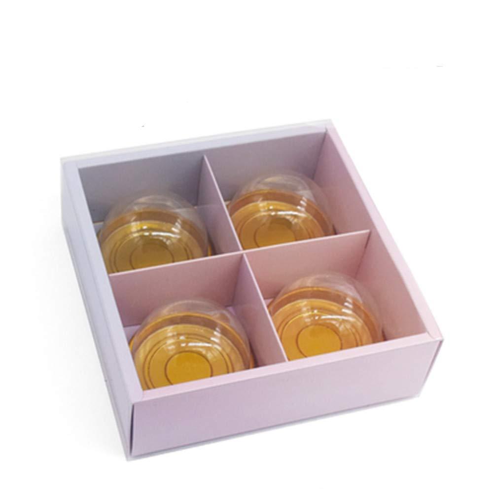 Amazon.com: Craft Paper Mooncake Box With Translucent Lids ...