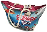 Fresko Tropical Print Beach Bag Tote with Pouch (Its Summer Time)