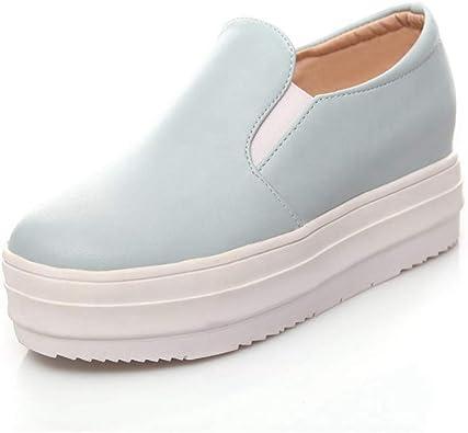 CYBLING Women Slip On Platform Loafers
