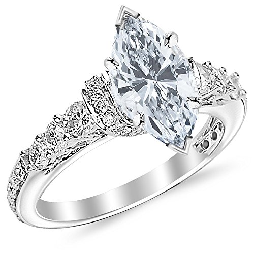 0.63 Carat 14K Black Gold Twisting Infinity Gold and Diamond Split Shank Pave Set Diamond Engagement Ring with a 0.5 Carat Blue Diamond Center (Heirloom Quality)