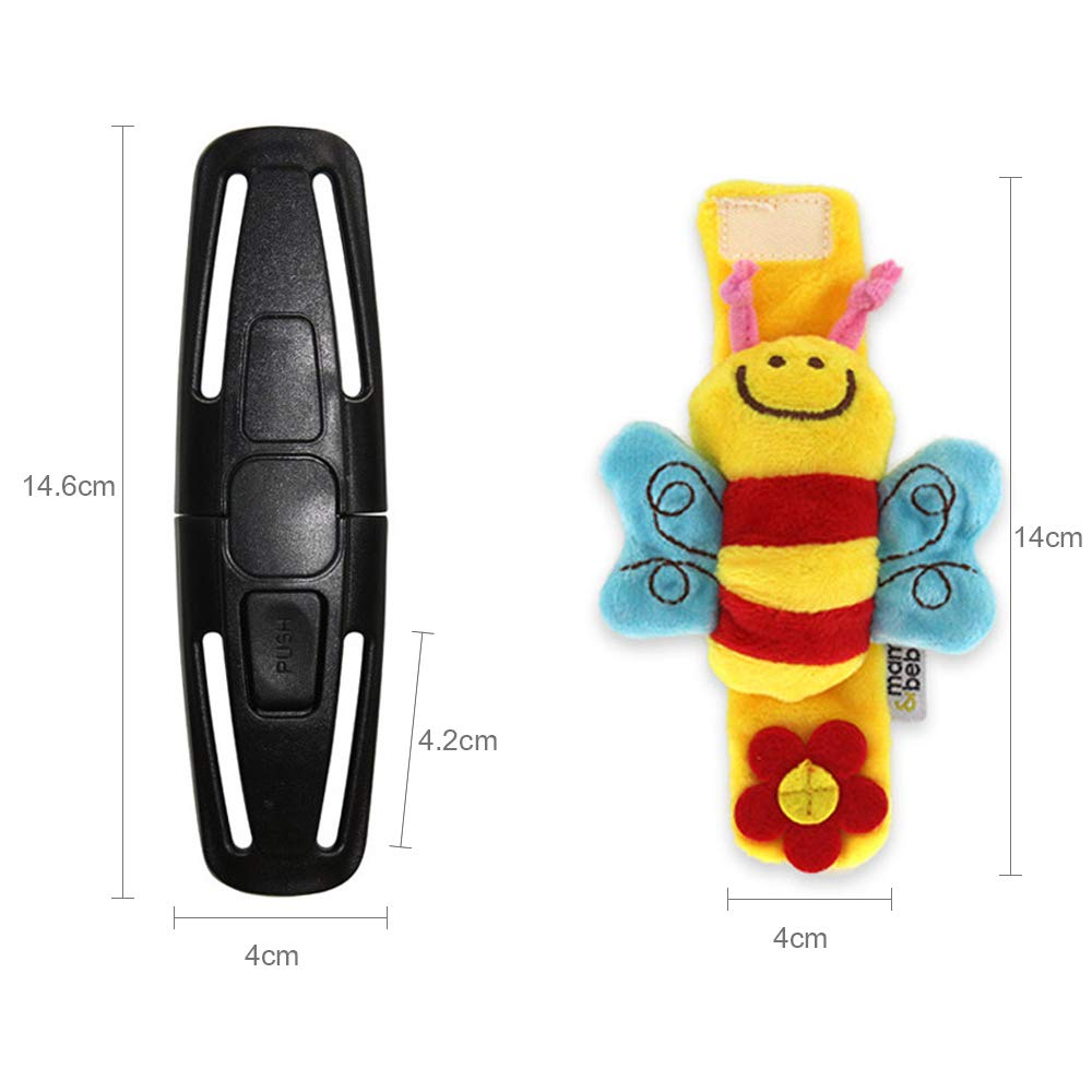Lapus 2 Packs Baby Seat Lock Safety Harness Locking Belt Safe Chest Clip Buckle With