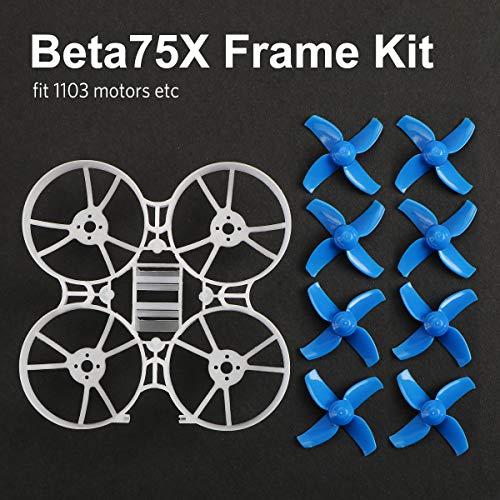 BETAFPV Beta75X 2S Whoop フレームキット 40mm 4ブレードプロペラ 1.5mm シャフトブルー 75mm 2S Whoop Drone えば Beta75Xの完成機