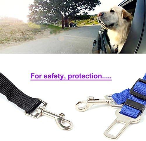 Hosaire 1X Cani Guinzaglio Cintura di Sicurezza Auto Regolabile Per Cane,Campo di regolazione 50-78 cm,blu