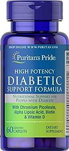 Puritan's Pride Diabetic Support Formula-60 Caplets