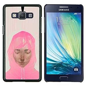"Be-Star Único Patrón Plástico Duro Fundas Cover Cubre Hard Case Cover Para Samsung Galaxy A5 / SM-A500 ( Mujer musulmán bufanda rosada Arte Pintura Retrato"" )"