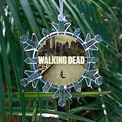 Walking Dead Snowflake Multi Color Blinking Ornament