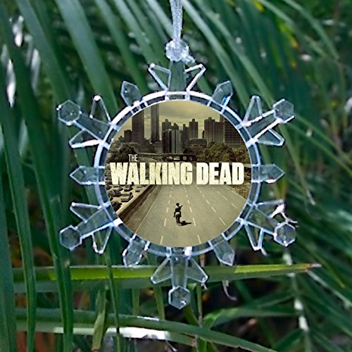 Amc Tv Show The Walking Dead Snowflake Multi Color Blinking Holiday Christmas Tree Ornament