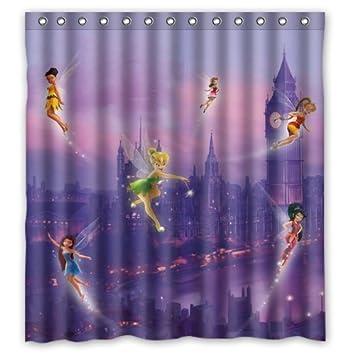 Tinkerbell Duschvorhang Custom Shower Curtain 66x72 Inch