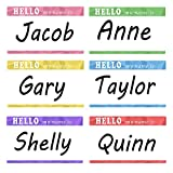 Name Tag Labels''Hello My Name is'' Identification Colorful School Office Stickers 500 Sticker Roll