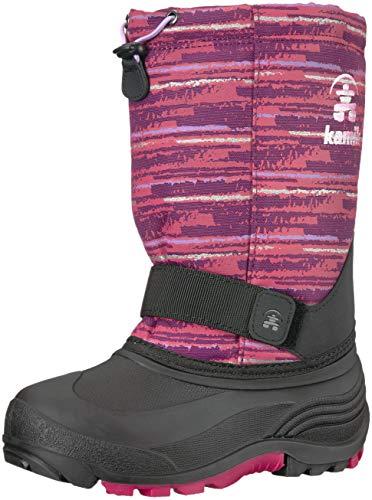 Kamik Footwear - Kamik Girls' ROCKET2 Snow Boot, Rose/Lavender, 6 Medium US Big Kid
