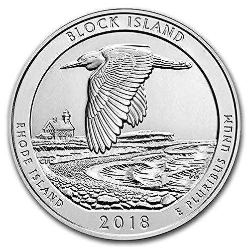 2018 2018 America the Beautiful - Block Island Wildlife Refuge $0.25 BU