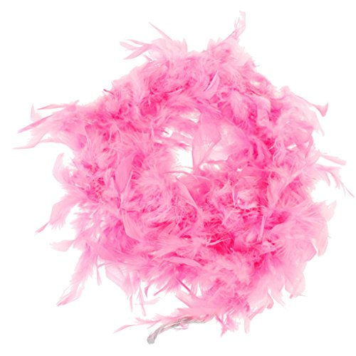 MonkeyJack 6.6 Feet Pink Feather Boa Night Party Burlesque Fancy Dress Costume Decor DIY