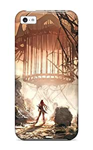 Iphone 5c Case Cover - Slim Fit Tpu Protector Shock Absorbent Case (heavenly Sword Video Game Other) by lolosakes