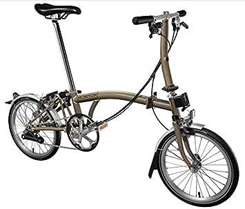 BROMPTON S6L 2017 RAW LACQUER PLEGABLE Bicicleta