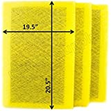 Air Ranger Replacement Filter Pads 22x22 (3 Pack) YELLOW